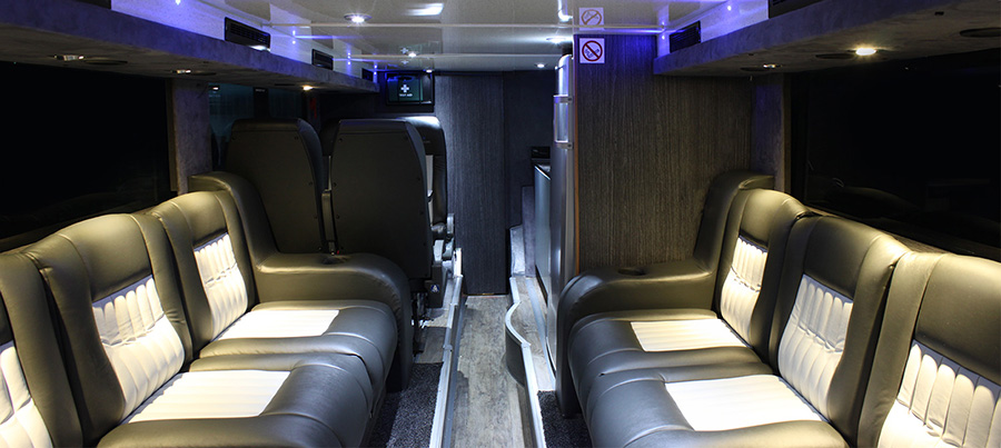 A sneak peak of our new tour bus band tour bus sleeper Tour bus interior design